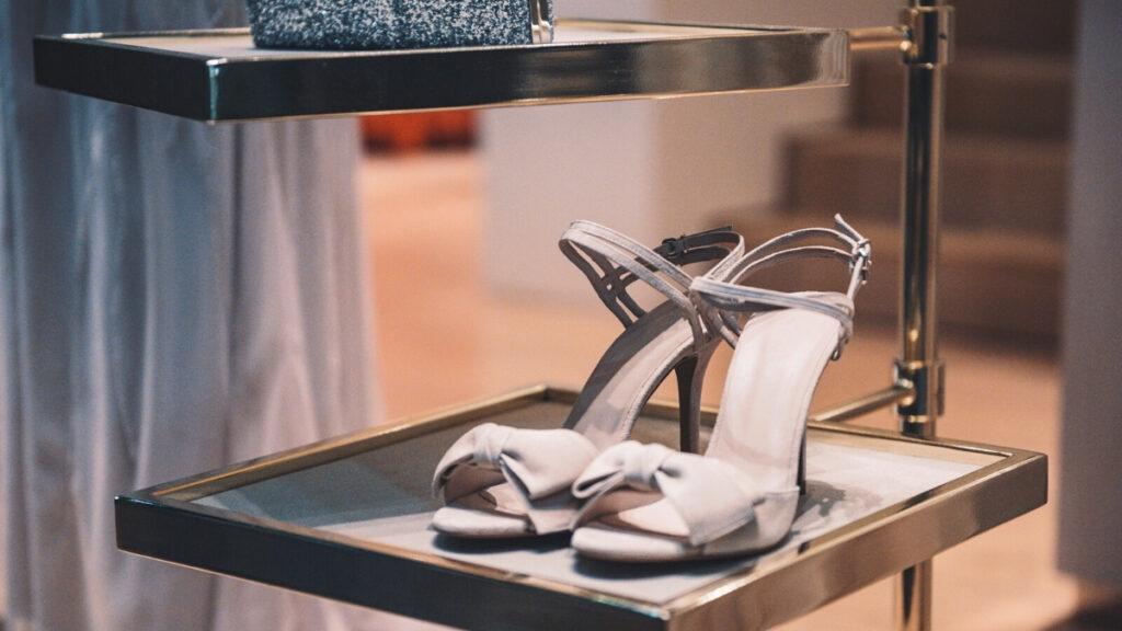 High heels on display