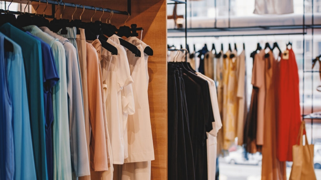 Clothing in store