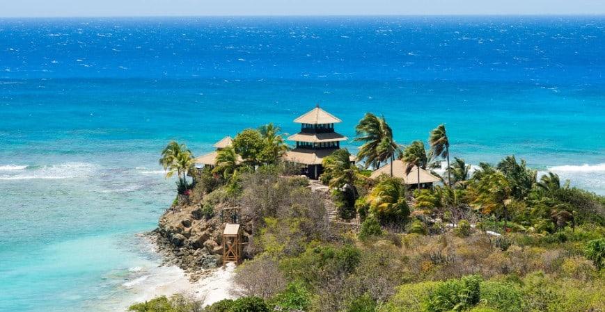 necker island bali cliff villa