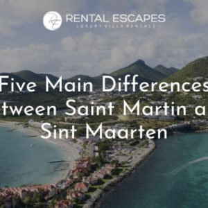 Saint Martin and Sint Maarten- Aerial View of Island