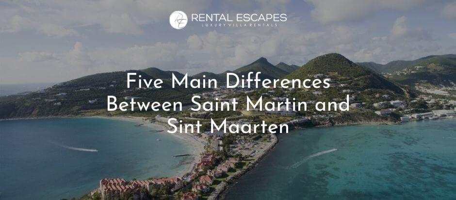 Saint Martin and Sint Maarten- Aerial View of Island