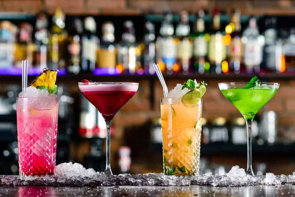 colorful caribbean cocktails