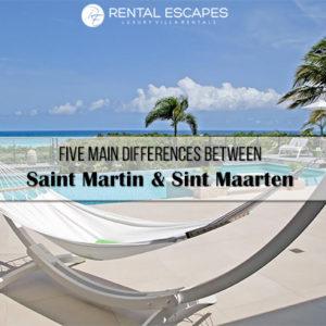 five main differences between sint maarten and saint martin