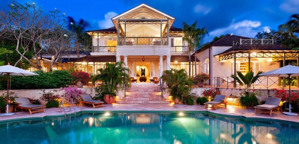 luxury villa rentals in Barbados garden