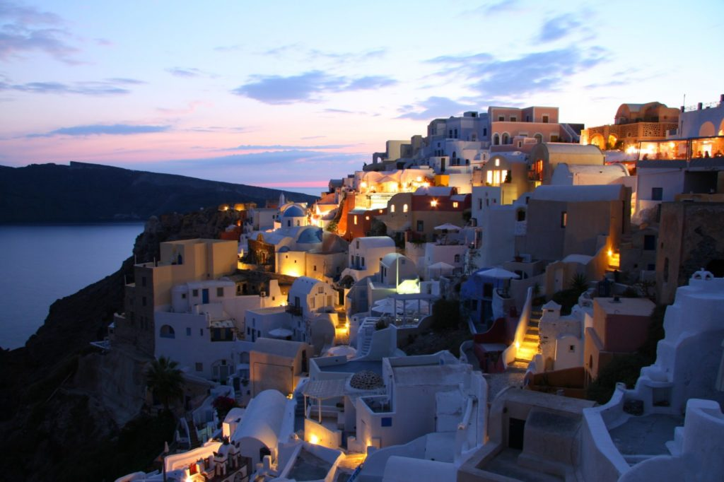 Sunset views in Santorini