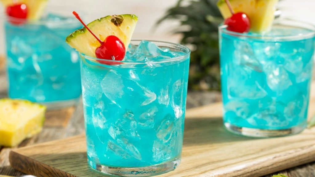Beautiful Blue Cocktail Named After The Destination of Hawaii