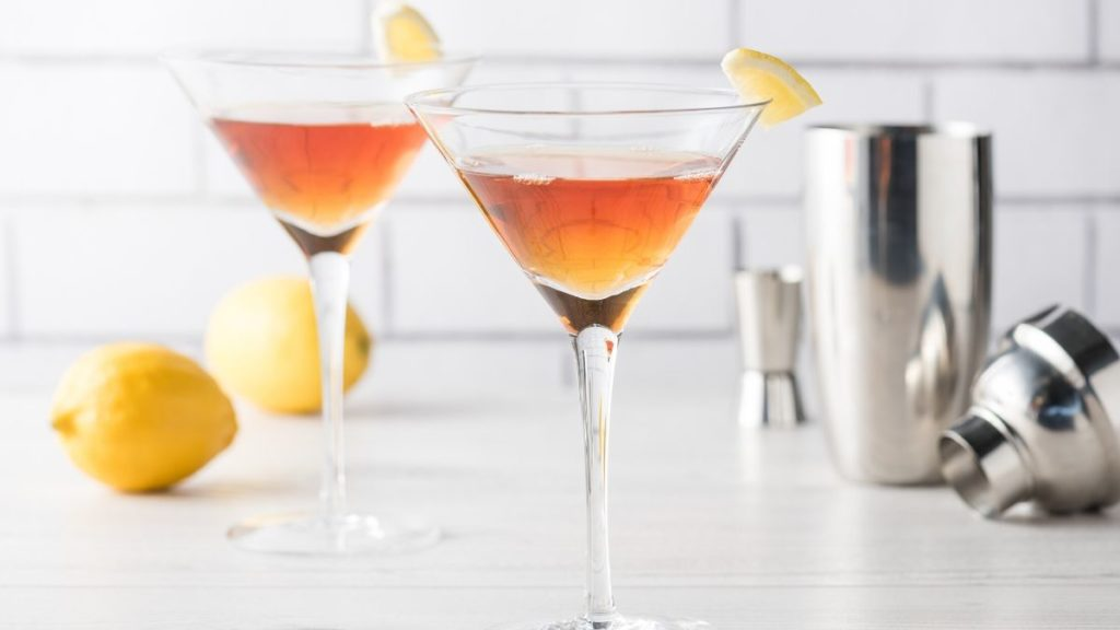 Sleek Manhattan Cocktail