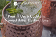 Delicious cocktails in copper mugs
