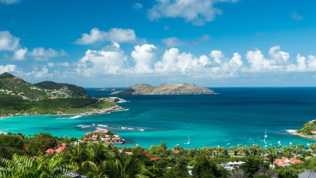 The island of St. Barts