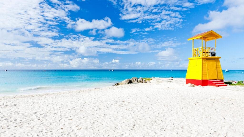 White sands at Miami beach in Barbdos