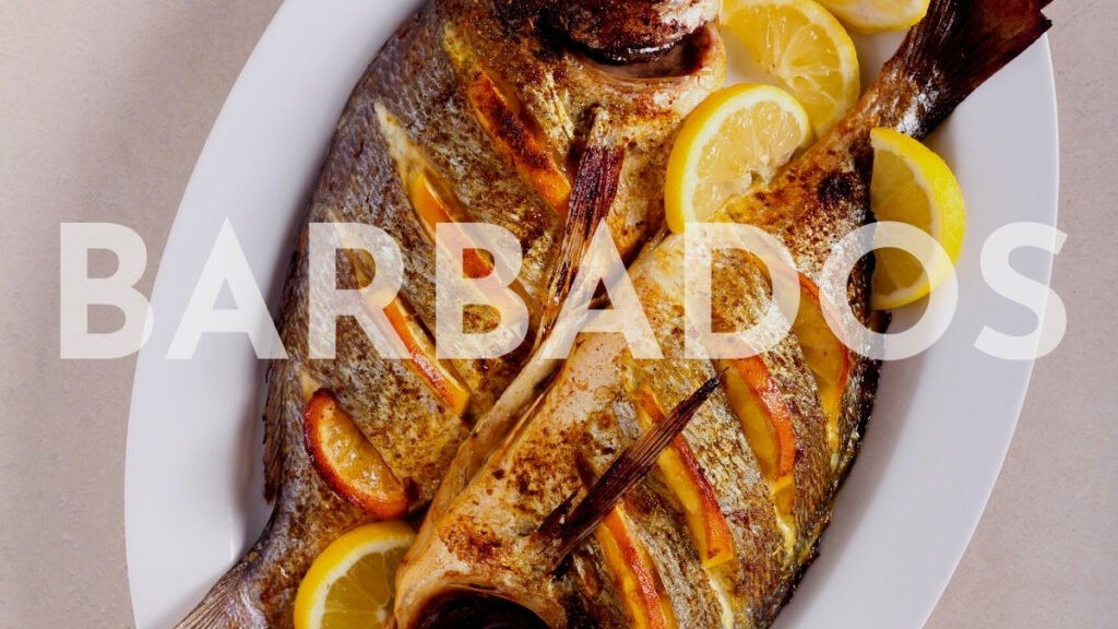 Fried fish from the grill in barbados