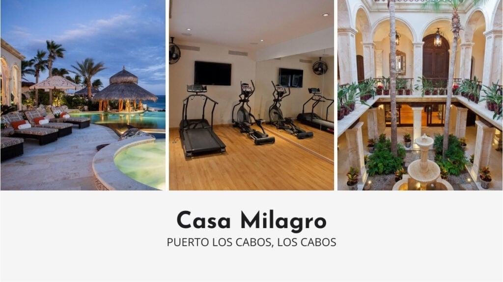 Casa Milagro in Los Cabos with Private Gym