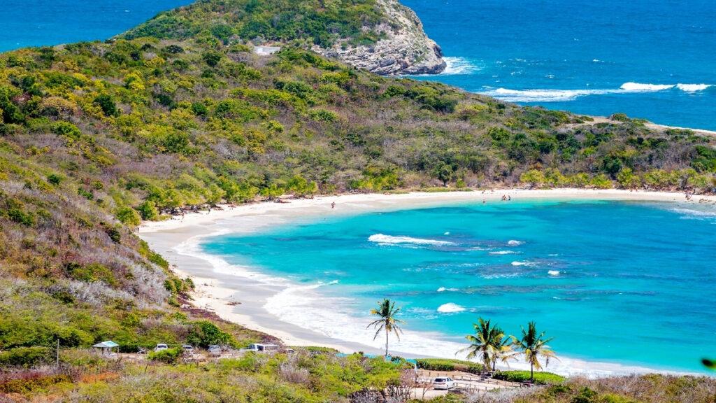half moon bay beach in Caribbean