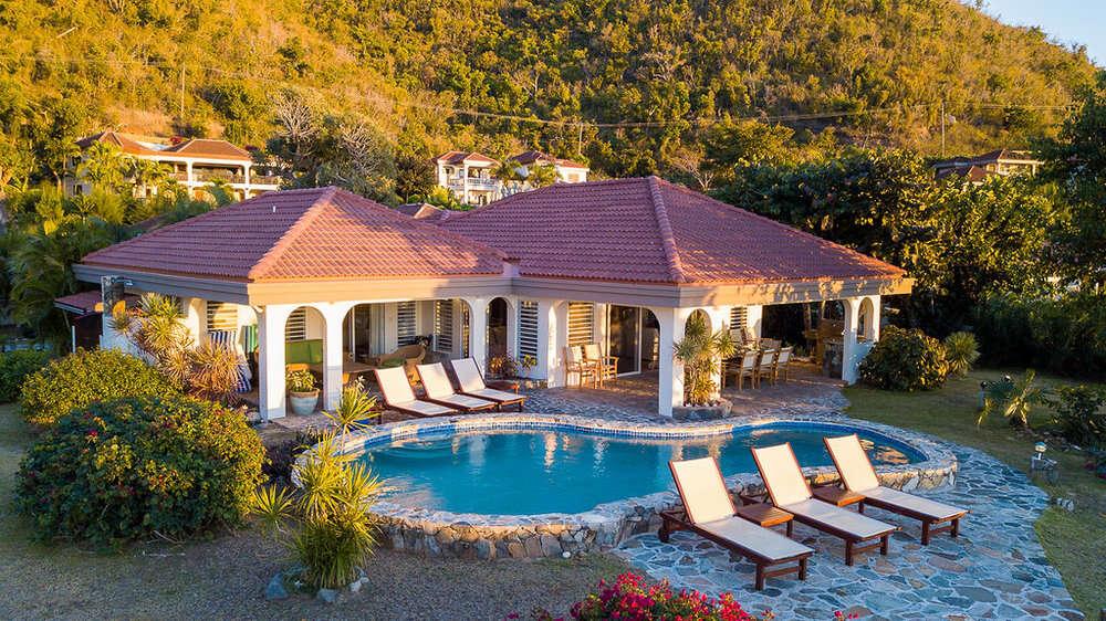 Luxury villa rentals caribbean - British virgin islands - Virgin gorda - Mahoe bay - A Villa on the Beach - Image 1/17