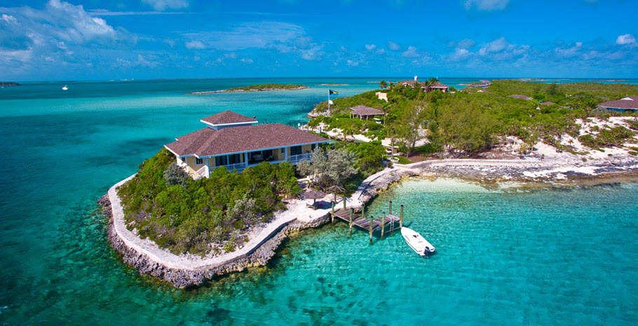Luxury villa rentals caribbean - Bahamas - Exumas - Fowl cay - Birdcage Villa - Image 1/7