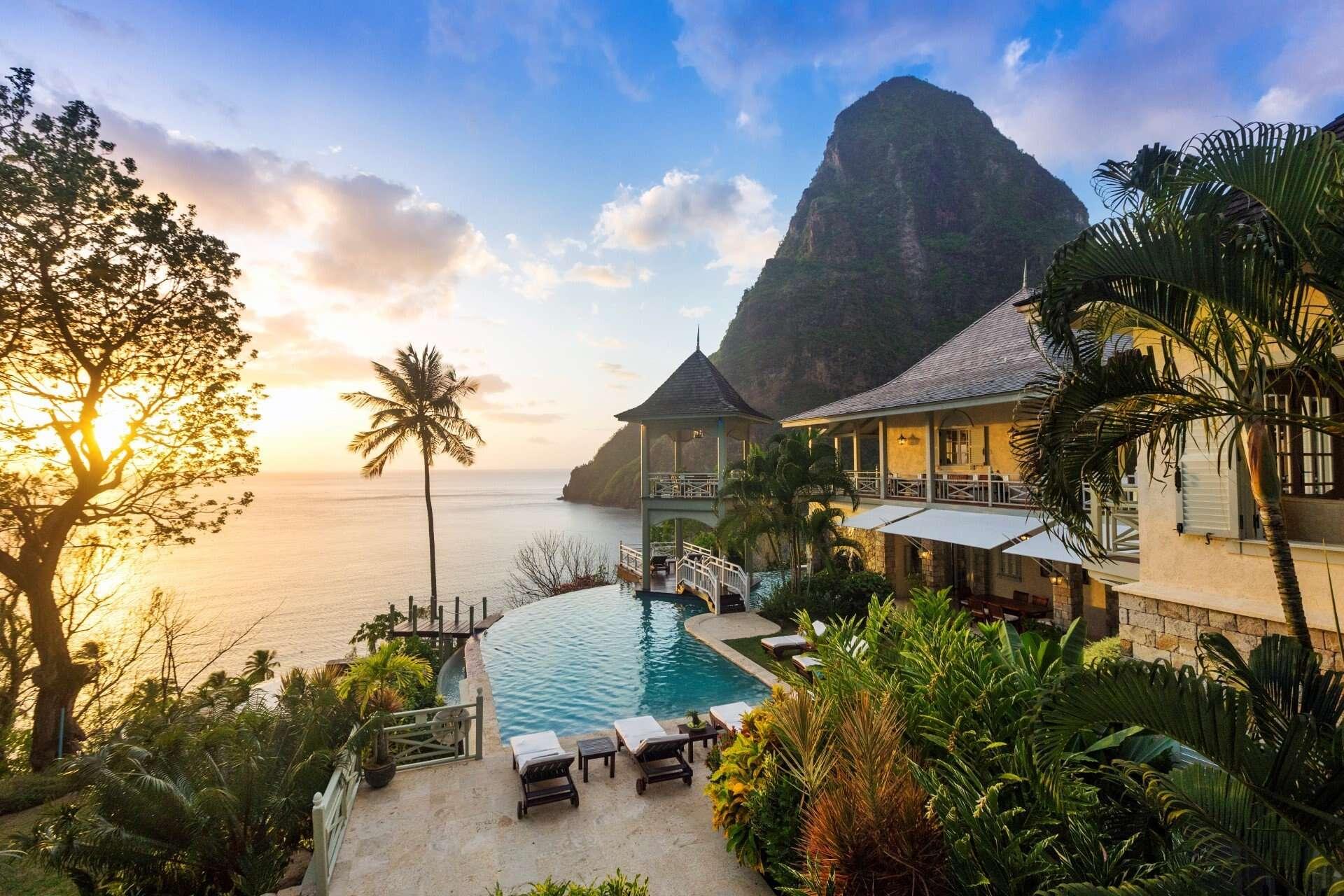Luxury villa rentals caribbean - St lucia - Soufriere - Belle vue - Arc en Ciel - Image 1/16