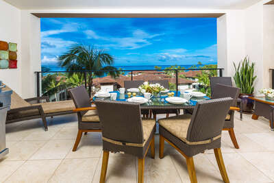 Covered Ocean View Terrace Spacious Outdoor Dining