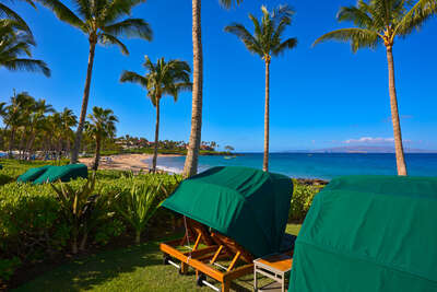Complimentary No-Charge! Oceanfront Shaded Personal Chaise Lounge Chairs