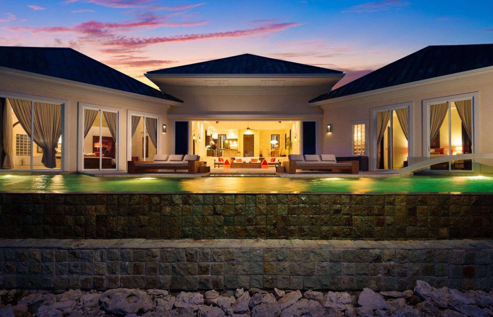 Luxury villa rentals caribbean - Turks and caicos - Providenciales - Turtle tail - Balinese Villa - Image 1/12