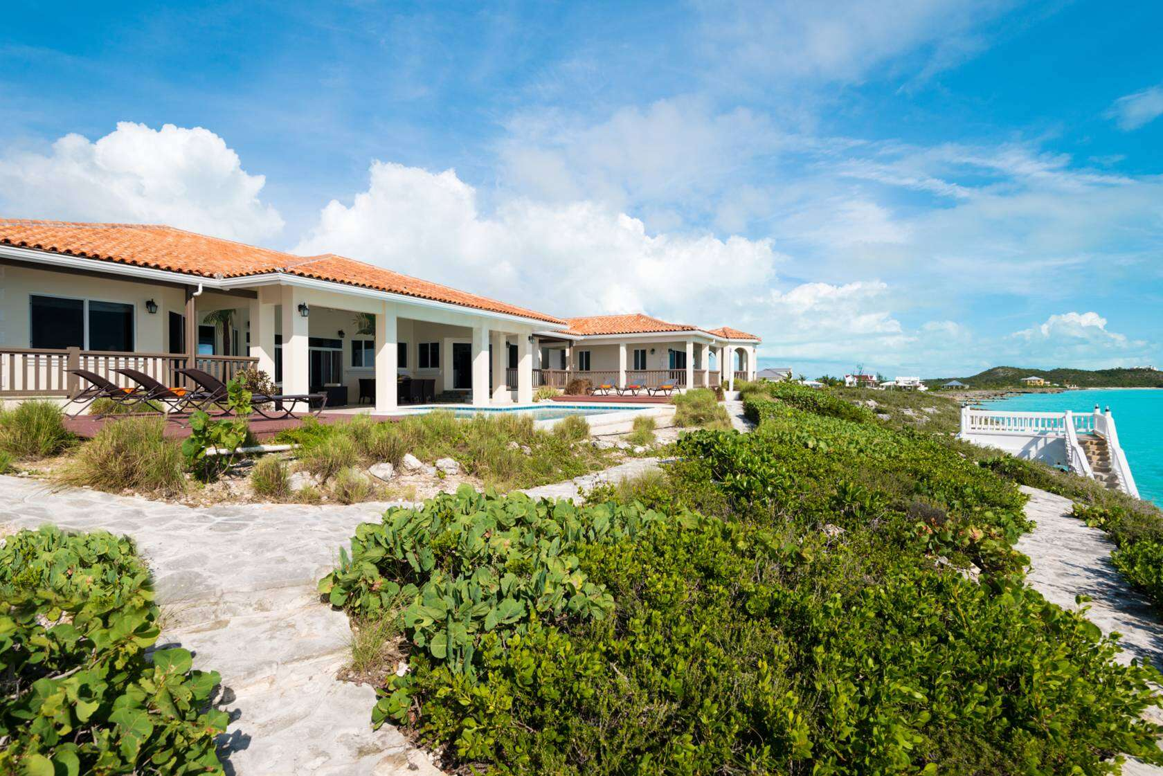 Luxury villa rentals caribbean - Turks and caicos - Providenciales - Turtle tail - Ocean Palms - Image 1/11