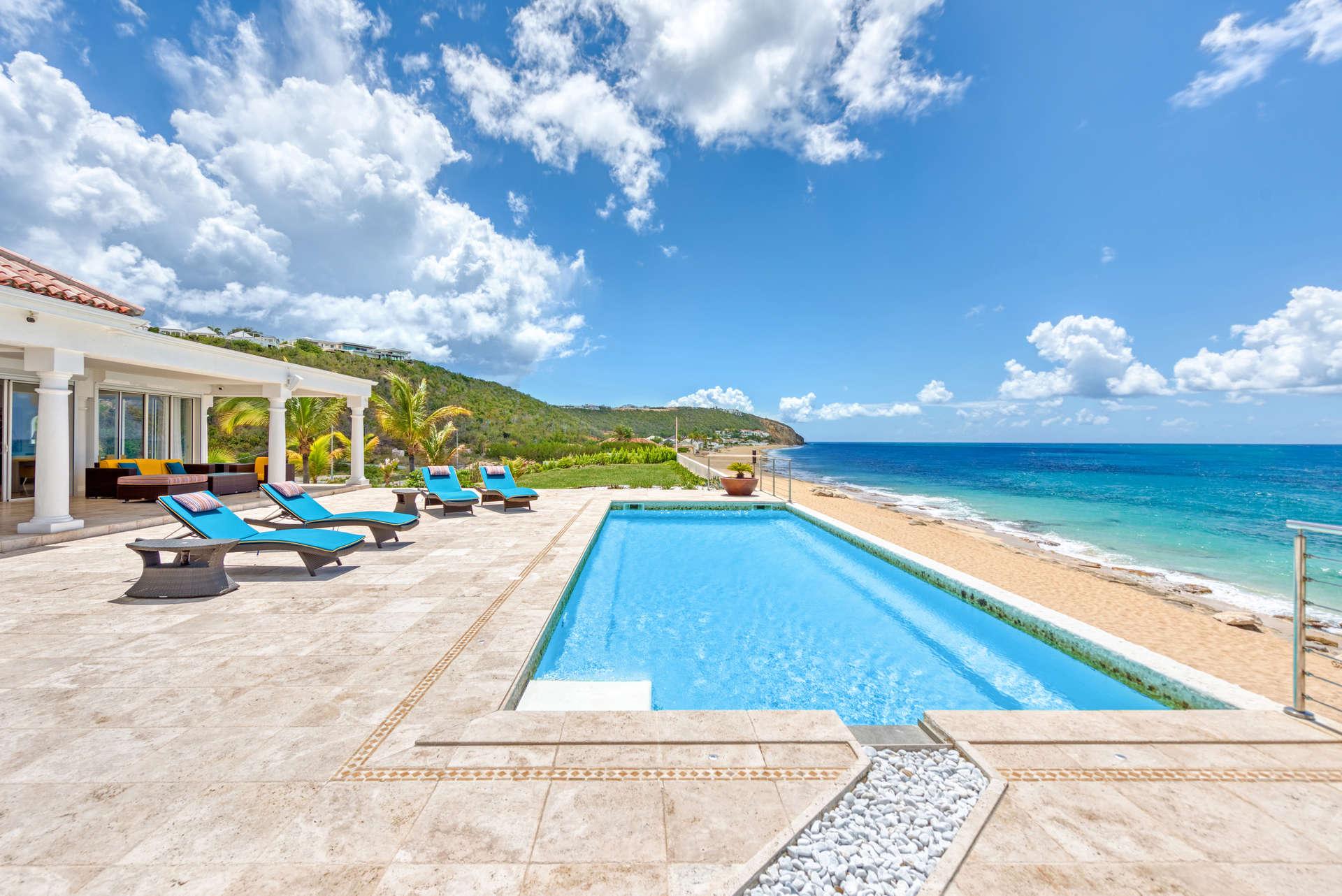 Luxury villa rentals caribbean - St martin - Saint martin french - Les terres basses - La Vie en Bleu - Image 1/26