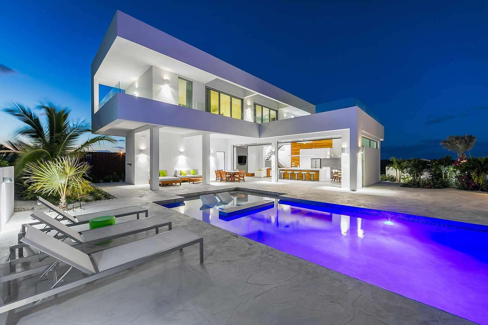 Luxury villa rentals caribbean - Turks and caicos - Providenciales - Long bay - White Villa 2 - Image 1/13