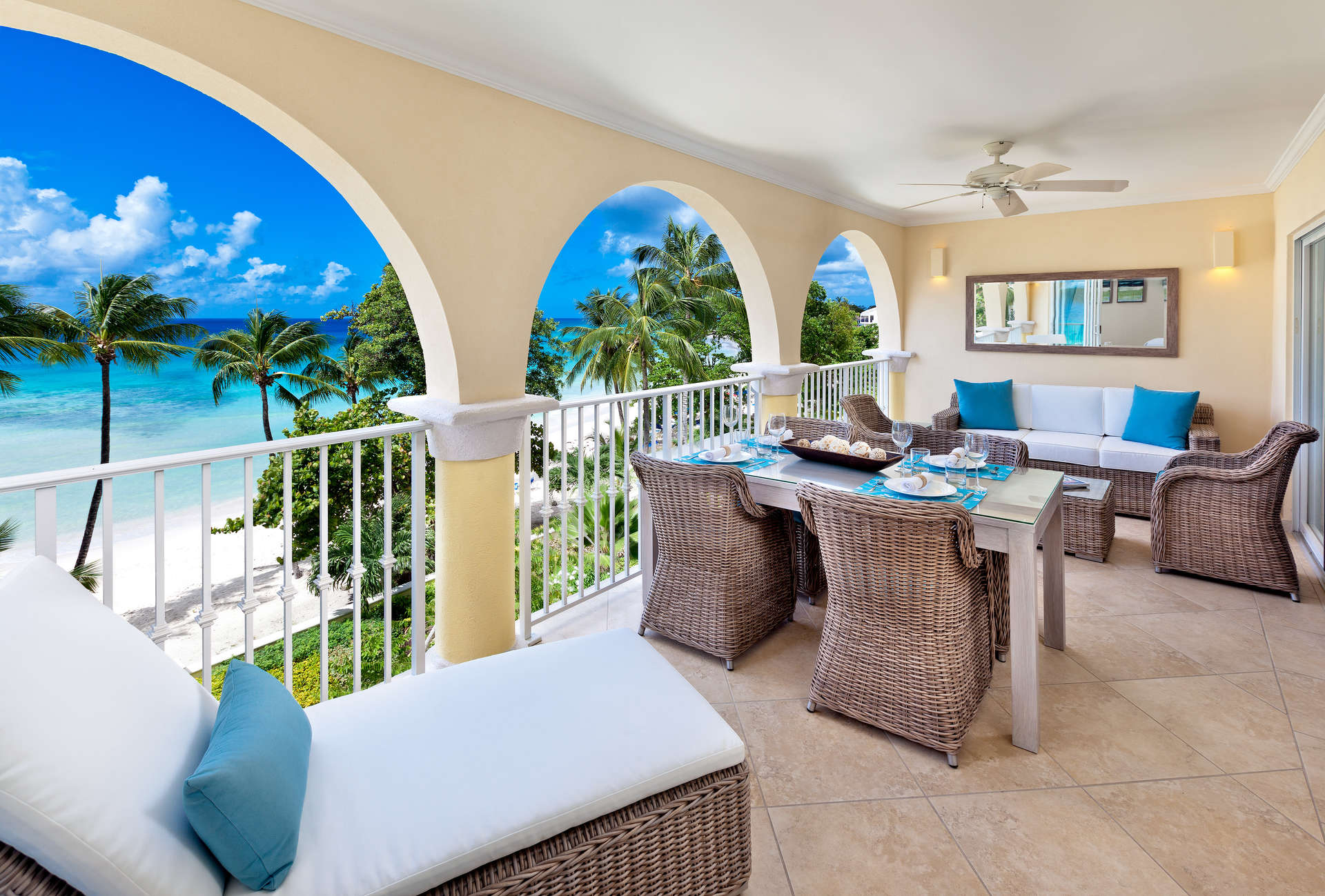 Luxury villa rentals caribbean - Barbados - Christ church - Oistins  - Sapphire Beach 317 - Image 1/8