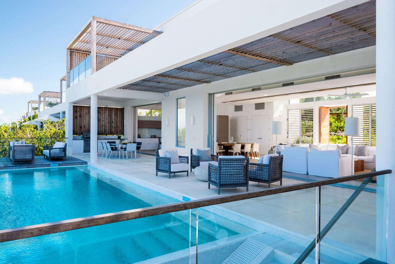 Luxury villa rentals caribbean - Turks and caicos - Providenciales - Babalua beach - Beach Enclave 4 Bedroom Beachfront Villa - Image 1/17