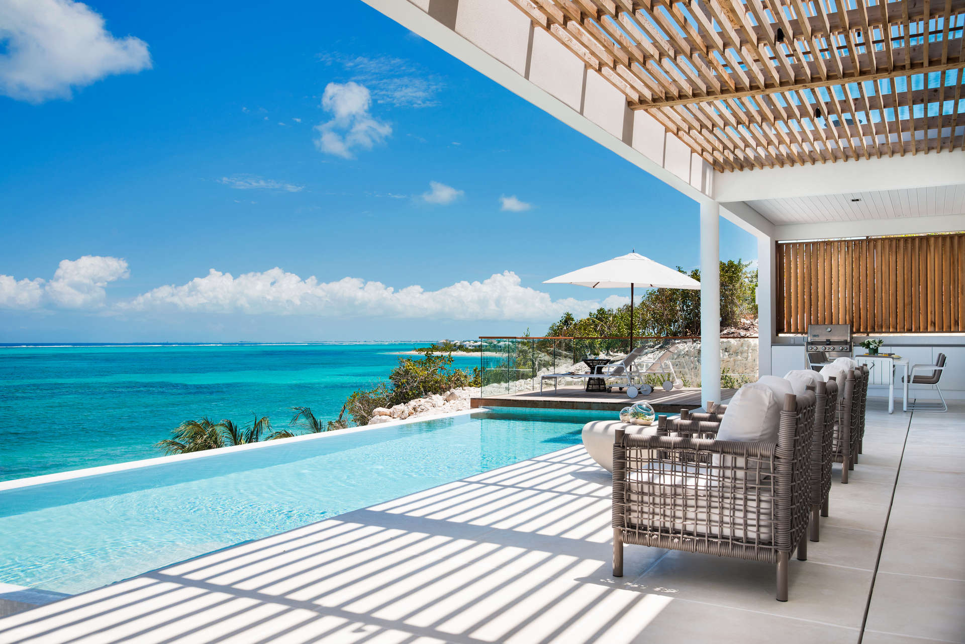 Luxury villa rentals caribbean - Turks and caicos - Providenciales - Beach enclave north shore - 4 Bedroom Beachfront Villa - Image 1/29