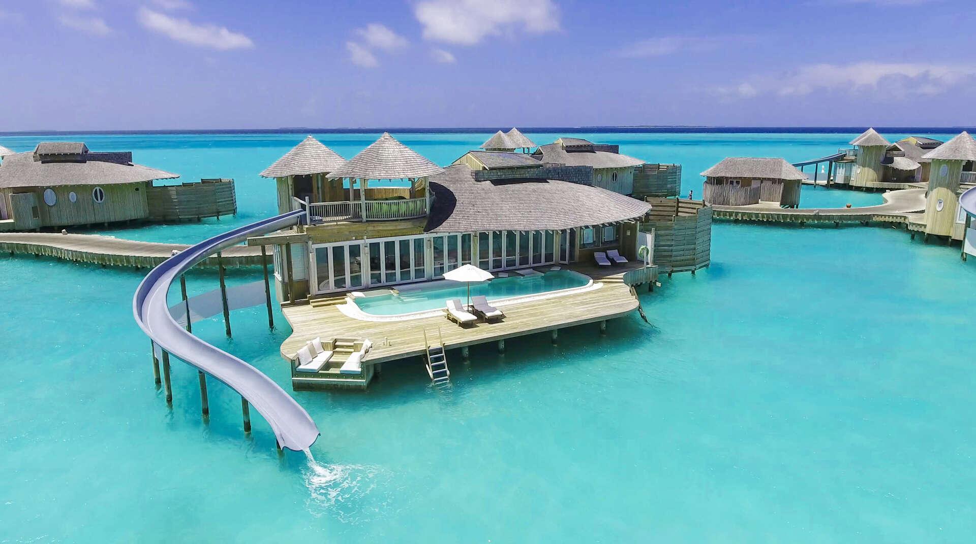 Luxury villa rentals asia - Maldives - Medhufaru island - Soneva jani resort - 1 BDM Water Retreat with Slide - Image 1/34