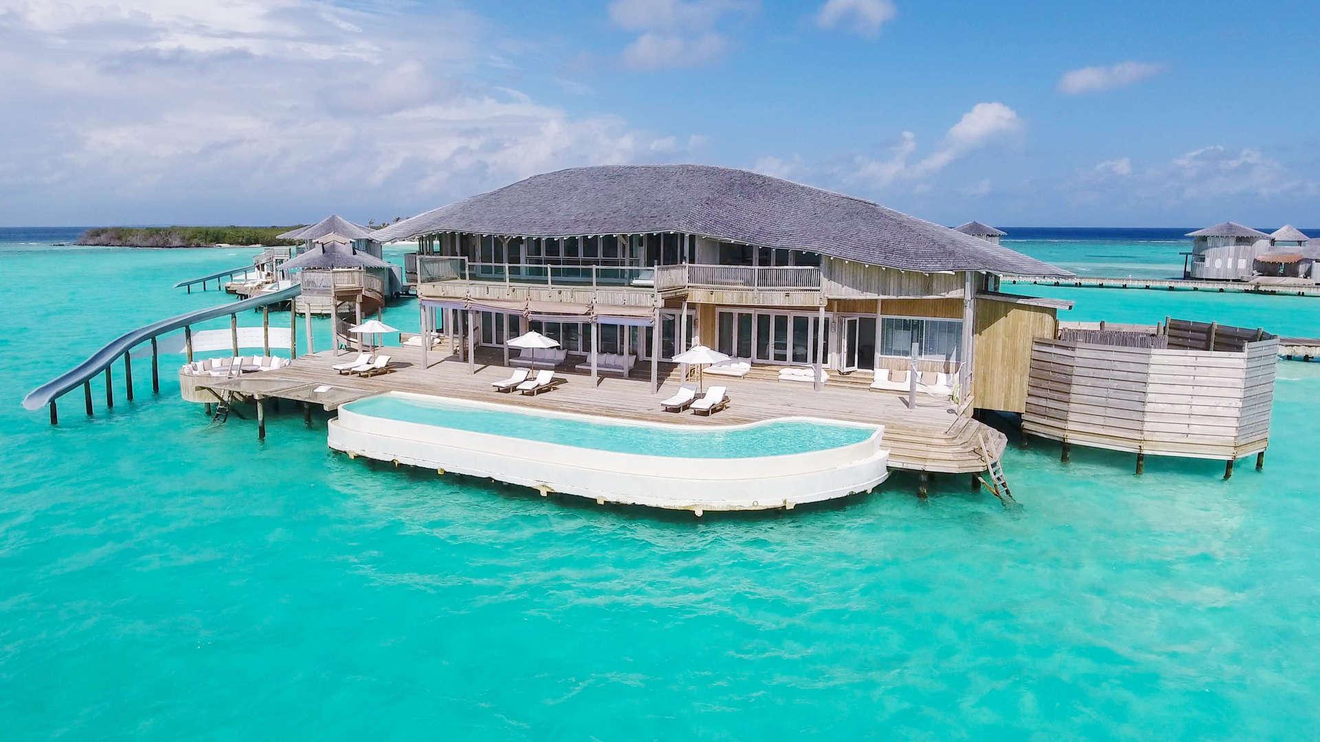 Luxury villa rentals asia - Maldives - Medhufaru island - Soneva jani resort - 4 BDM Water Reserve with Slide - Image 1/16