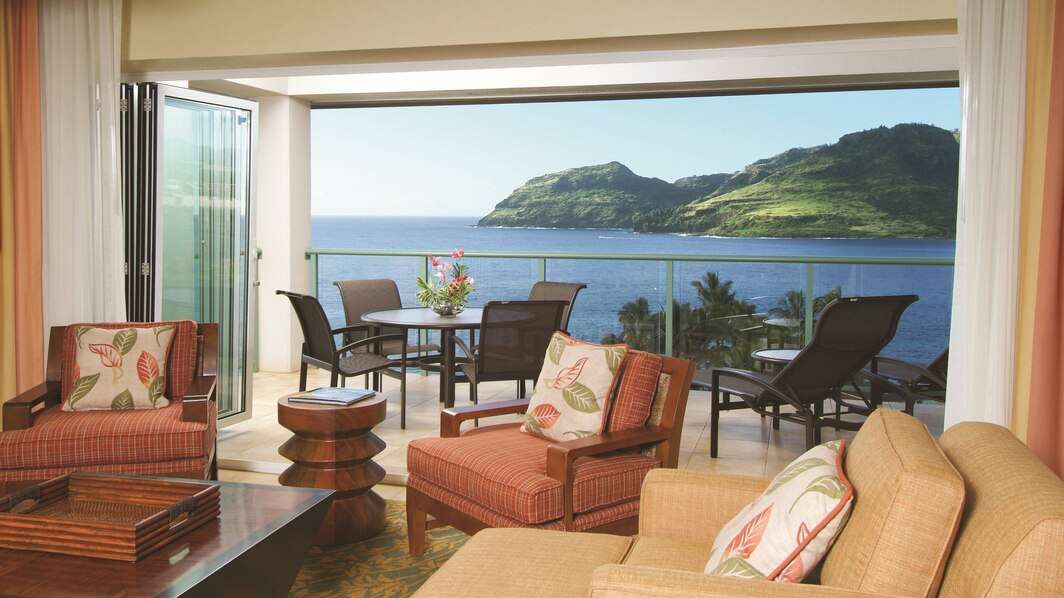 Luxury vacation rentals usa - Hawaii - Kauai - Marriott kauai lagoons kalanipu u - Oceanfront 3 BM - Image 1/13