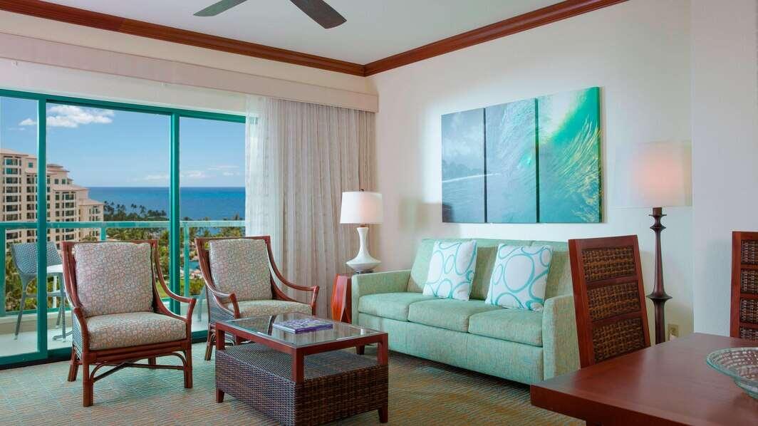 Luxury vacation rentals usa - Hawaii - Oahu - Marriott ko olina beach club - 2 BDM Ocean View Villa - Image 1/19