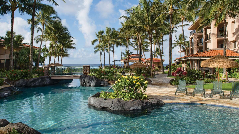 Luxury vacation rentals usa - Hawaii - Kauai - Marriott waiohai beach club - 2 BDM Villa - Image 1/14