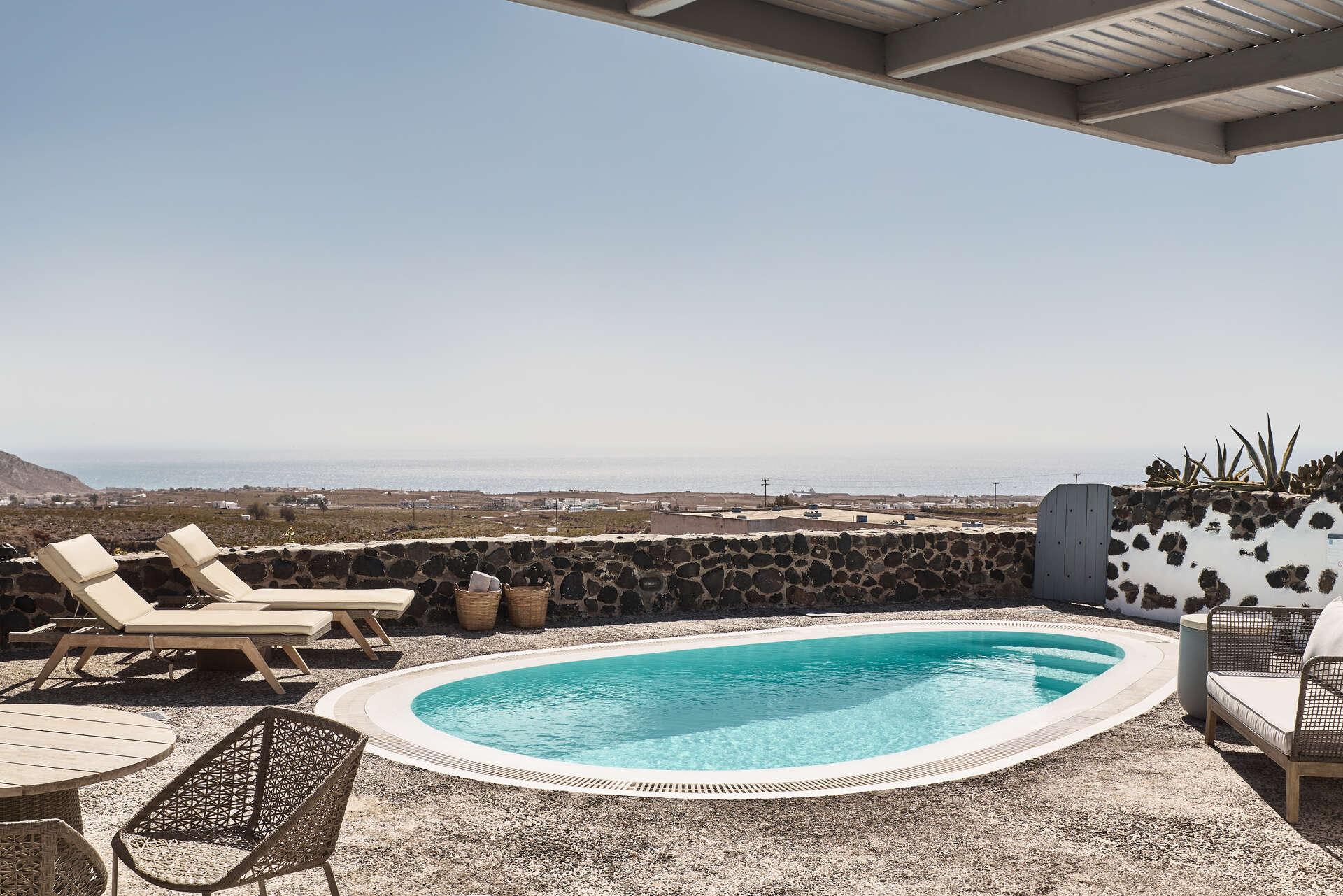 Luxury vacation rentals europe - Greece - Santorini - Vedema resort - Olympian Villa - Image 1/13