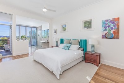 the spacious Master bedroom with open plan ensuite