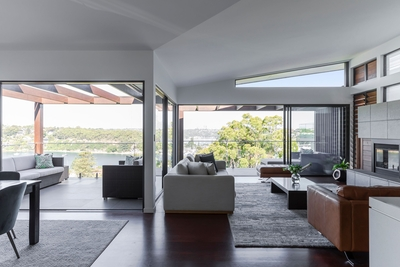 the light filled and spacious living area