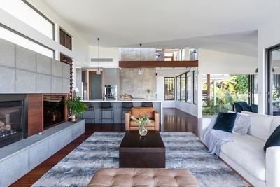the extra cozy living area