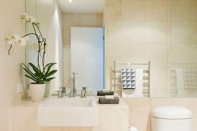 modern ensuite bathroom of master bedroom