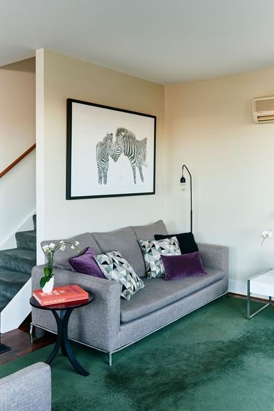 beautiful sofa in living area