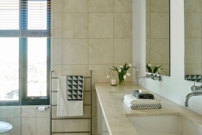 stunning bathroom with shower