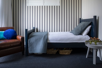 beautiful single bed in kids bedroom