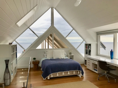 Beautiful bedroom with natural light