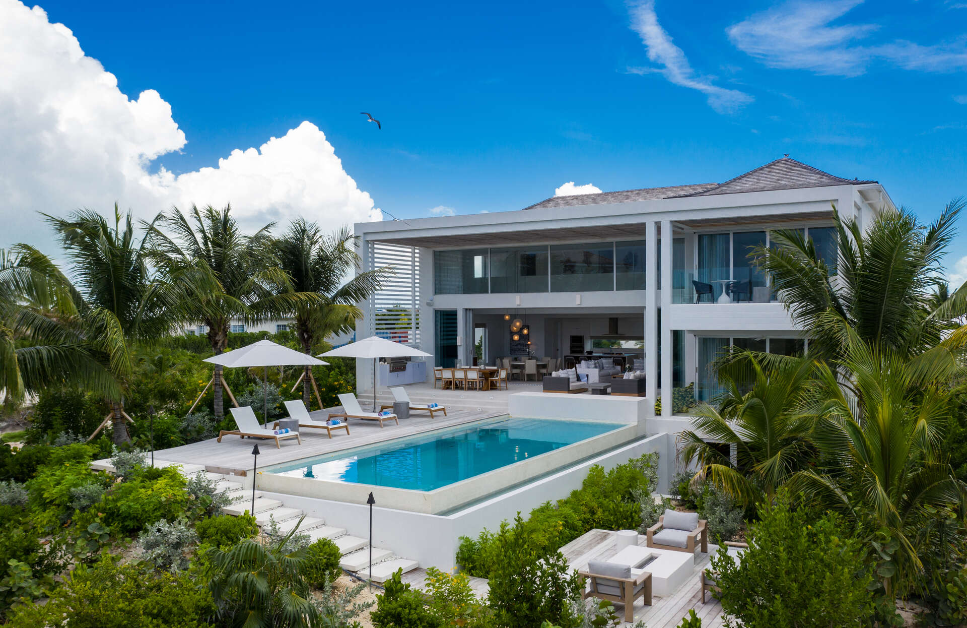 Luxury villa rentals caribbean - Turks and caicos - Providenciales - Beach enclave grace bay - Five Bedroom Ocean View - Image 1/47