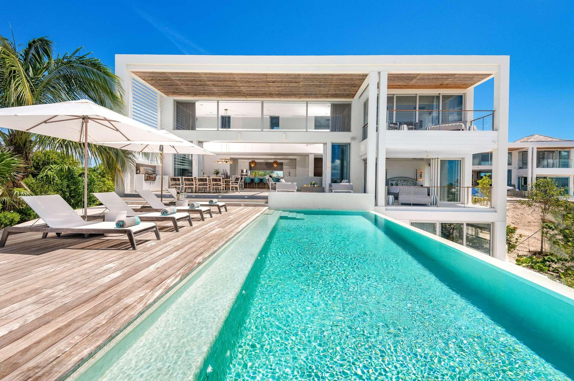 Luxury villa rentals caribbean - Turks and caicos - Providenciales - Beach enclave grace bay - Six Bedroom Premium Ocean View - Image 1/47