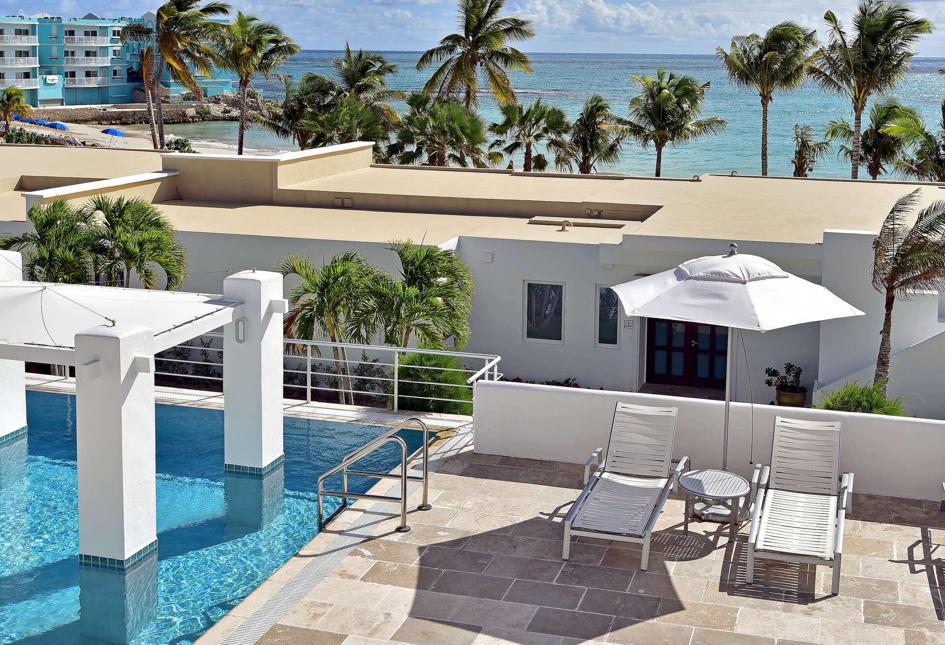 Luxury villa rentals caribbean - St martin - Sint maarten - Coral beach club - 3 BDM Beachview Villa - Image 1/24
