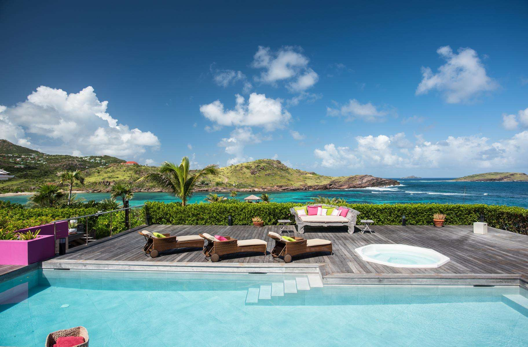 Luxury villa rentals caribbean - St barthelemy - Petit culdesac - No location 4 - la Vie en Rose - Image 1/33