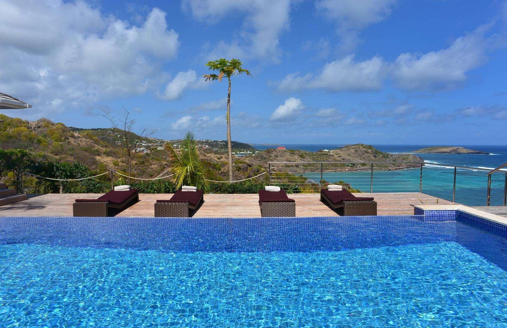Luxury villa rentals caribbean - St barthelemy - Petit culdesac - Chambord - Image 1/22