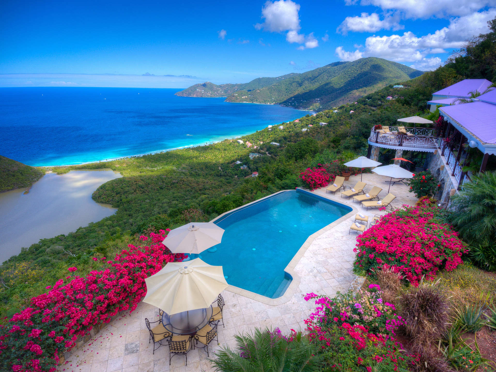 Luxury villa rentals caribbean - British virgin islands - Tortola - Belmont  - St Bernard's Hill House - Image 1/28