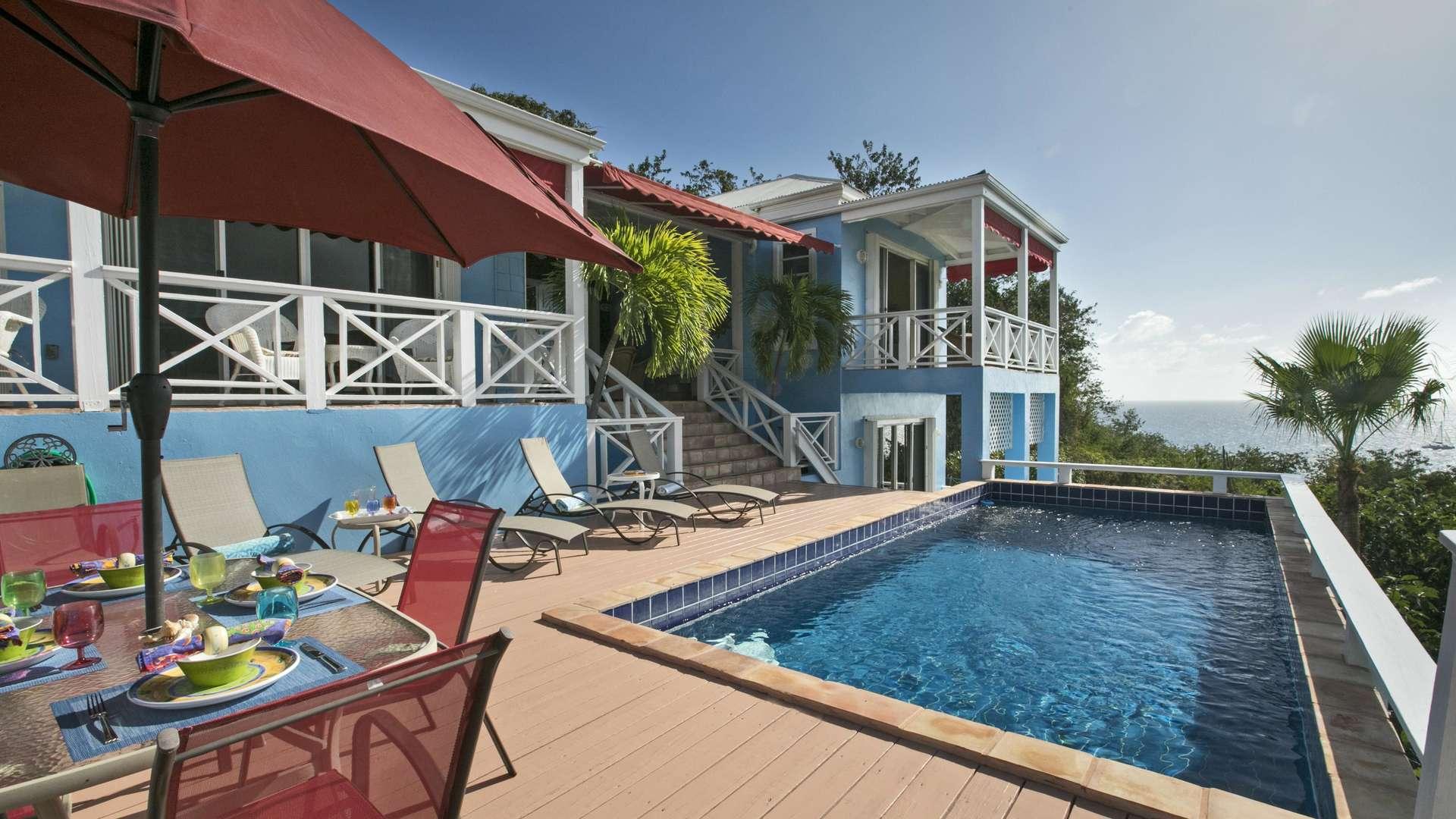 Luxury villa rentals caribbean - Usvi - St thomas - Frenchmans bay - CalypsoBlu - Image 1/13